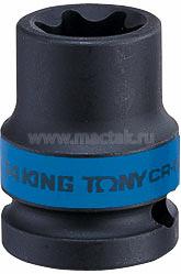"Головка торцевая ударная TORX Е-стандарт 1/2"", E18, L = 38 мм KING TONY 457518M"