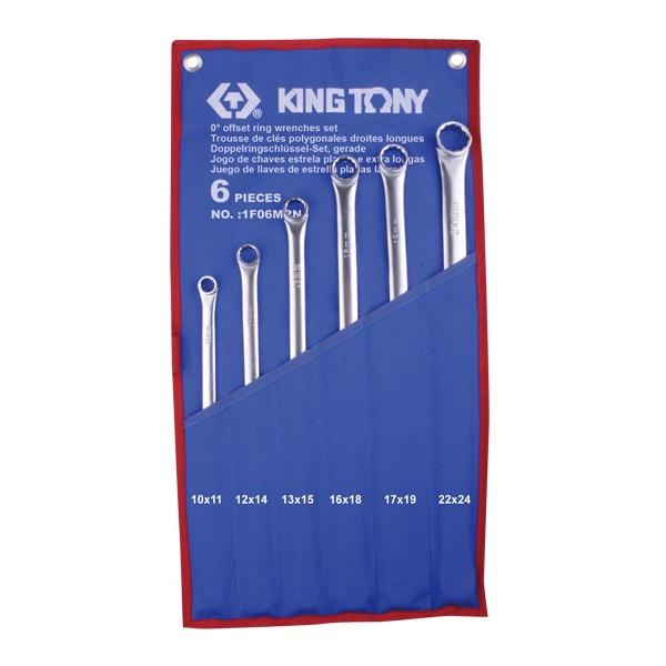 Набор накидных ключей, 10-24 мм, 6 предметов KING TONY 1F06MRN