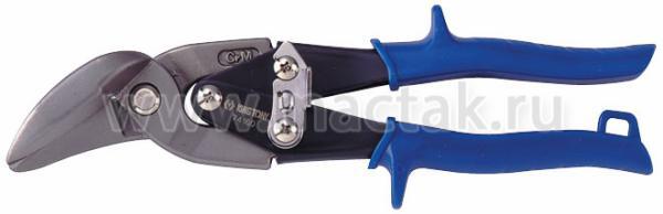 Ножницы по металлу 235 мм, правые, загнутые KING TONY 74160