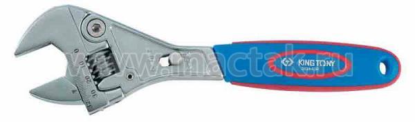 Ключ разводной Chrome 250 мм, с трещоточным механизмом KING TONY 3631-10R