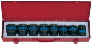 """Набор ударных торцевых головок 3/4"""", шестигранные, 26-38 мм, 8 предметов KING TONY 6409MP10"""